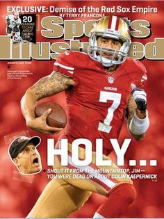 """Colin Kaepernick makes Sports Illustrated cover! Should we be worried?"" San Francisco Business Times (January 16, 2013)"