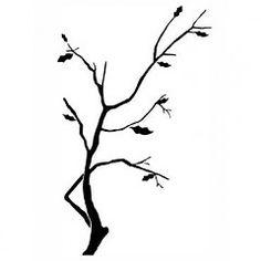 Dekoračná šablóna Vetvička k17 | Šablóny na maľovanie stromy | DECOTREND