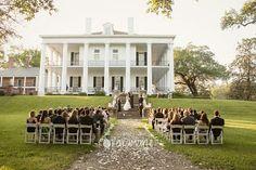 Side yard ceremony at Dunleith Plantation Wedding, Natchez, MS
