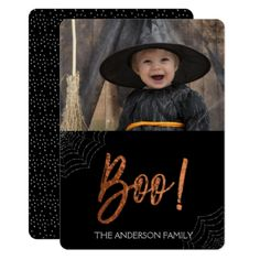 Happy Halloween Boo! Halloween Photo Card - Halloween happyhalloween festival party holiday
