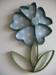 2 Wall flower art / Upcycled Toilet Paper Rolls / by RutiLine, $20.00