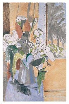 Henri Matisse BOUQUET OF FLOWERS ON A VERANDA Fine Art Painting Poster 24X36