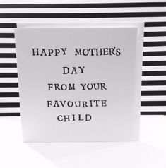 Favourite Child Card For Mom Special Mum First Mothers Day Sentimental 135cm Square Greeting CompaniesOnline