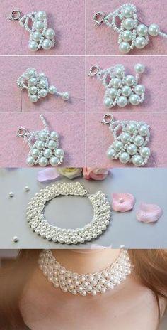 (2) жемчуг нагрудник ожерелье, как это?  LC.Pandahall.com поделился с нами…