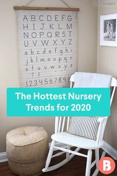Looking for some nursery ideas for baby's new room? Take a tip from these popular design choices. White Furniture Sets, Grey Furniture, Farmhouse Furniture, Pink And Gray Nursery, Nursery Neutral, Girl Nursery, Nursery Ideas, Wooden Rocker, Vintage Crib
