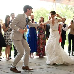 Your first dance doesn't have to be slow! You can spice it up with a lively and upbeat song.  Let's begin planning your wedding music: http://www.naplesdj.com/  #naplesdj #wedding #firstdance  Photo Source: https://www.flickr.com/photos/valkyrieh116/9070325787/