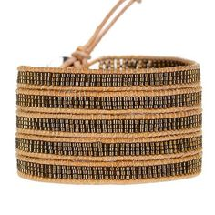 Japanese Beads on Natural Leather - crazy price, cool design