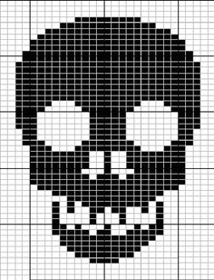 skull knit pattern -will have to try this as a crochted scarf pattern where were you at Christmas!