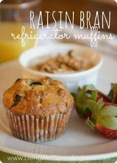 Raisin Bran Refrigerator Muffins--These are by far the best bran muffins I have ever had! Whips up a huge batch of batter that can be stored in the refrigerator for up to 3 weeks to bake as needed on busy mornings!