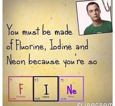 Sheldon  Funny quote science