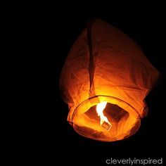 Make a Wish Lantern on New Year's Eve - Cleverly Inspired