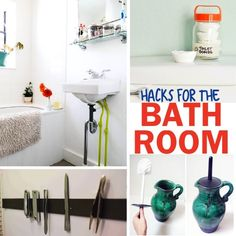 Bathroom Tips! I need them. We are often looking for Bathroom hacks and tips to be cleaner, have a more peaceful and organized bathroom.