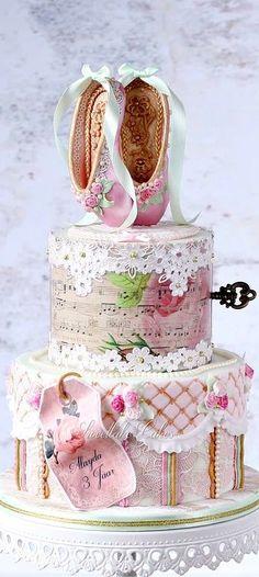 Shabby Chic Vintage Victorian Ballet Cake