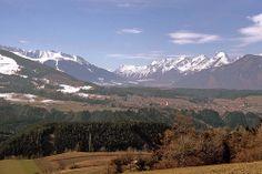 Austrian Valley - Patsch near Igls in Tirol to the Upper Innvalley - Mieminger Kette on Right, Ranger Köpfl on Left