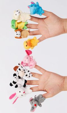 10 Finger Puppets Each One A Different Animal Foster Kids Imaginations