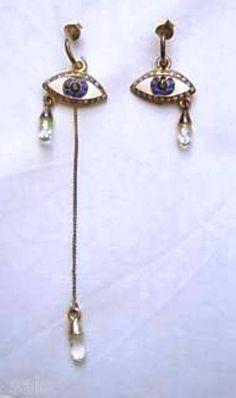 Marcasite Eye Earrings by 'R JEWELLERY'