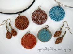 DIY stamped polymer clay jewelery video