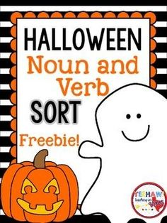 Students will love sorting these Halloween nouns and verbs. Students could also use these cards to write sentences for an extra challenge!