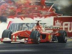 Michael Schumacher finally securing a long awaited world championship victory for Ferrari waiting just over 21 years of drought