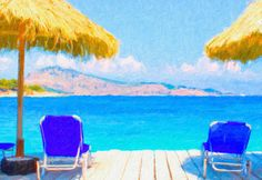 I uploaded new artwork to fineartamerica.com! - 'Beautiful Tropical Beach With Deck Chairs' - http://fineartamerica.com/featured/beautiful-tropical-beach-with-deck-chairs-lanjee-chee.html via @fineartamerica