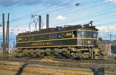 New Haven EP-3 electric #352 at New Haven, Connecticut on October 11, 1958.