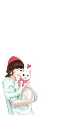 รูปภาพ art, cute, and korean