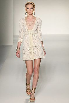 love the deep neck line..and of course...the LACE! Moschino Spring 2012