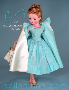Matching dresses and/or coat linings added another touch of glamor from the no-nonsence war years to a new period of choice and options. Old Dolls, Antique Dolls, Vintage Dolls, Vintage Madame Alexander Dolls, Barbie, New Fashion Trends, Doll Patterns, Beautiful Dolls, Fashion Dolls