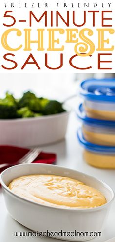 You can whip up this terrific easy cheese sauce in just 5 minutes!  Best of all, you can make a big batch and then freeze portions to pull out for other meals!! Best Freezer Meals, Make Ahead Meals, Freezer Cooking, Frugal Meals, Easy Meals, Meal Recipes, Dinner Recipes, Cheesy Sauce, Easy Cheese