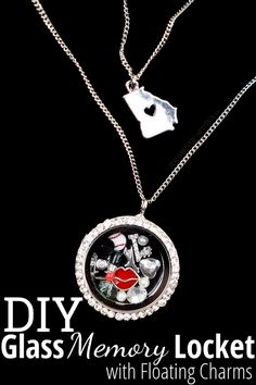 Tell Your Life Story: How to make a Glass Memory Locket with Floating Charms (DIY Craft Tutorial)