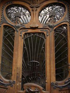 Art Nouveau Door by sustainedtone, via Flickr
