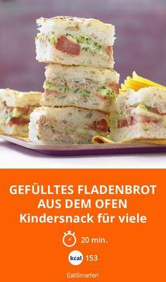 Gefülltes Fladenbrot aus dem Ofen - Kindersnack für viele - smarter - Kalorien: 153 kcal - Zeit: 20 Min. | eatsmarter.de