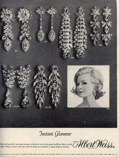 1964 vintage ad for Weiss jewelry