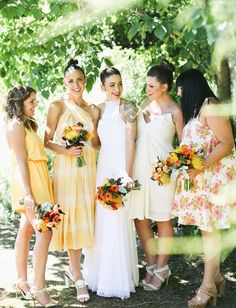 Pin for Later: 14 Bridesmaid Hairstyle Ideas to Steal From Real Weddings Topknots Photo by Lara Hotz via Green Wedding Shoes