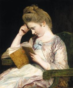 Portrait of Theophila Palmer Sir Joshua Reynolds, P. (English, Oil on canvas. Reynolds has captured his niece, affectionately known as 'Offy' as she sits reading her novel,. Thomas Gainsborough, L'art Du Portrait, Portraits, Portrait Ideas, Dante Gabriel Rossetti, Reading Art, Woman Reading, John Everett Millais, Joshua Reynolds