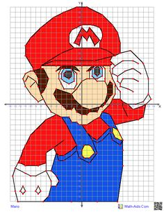 This Graphing Worksheet will produce a four quadrant coordinate grid and a set of ORDERED PAIRS that when correctly plotted and connected will produce different characters. You may select from several different characters.