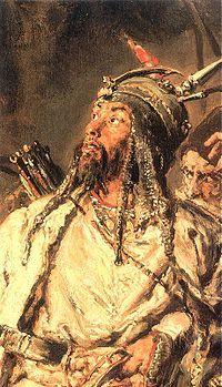 """""""Tugay bey"""", famoso capitán tártaro de Crimea pintado por Jan Matejko, 1885, Museo Nacional de Varsovia."""