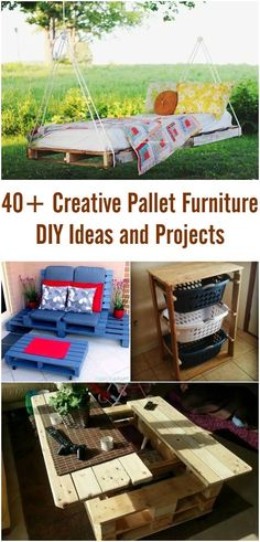 40+ Creative Pallet Furniture DIY Ideas and Projects #furniture #repurpose #pallet