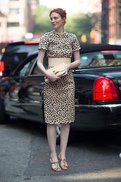 Bazaar- NYC - Street Style …..Love the wide Belt…Needs to make a comeback..