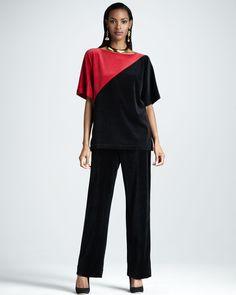 http://ncrni.com/joan-vass-velour-colorblock-tunic-womens-p-11335.html