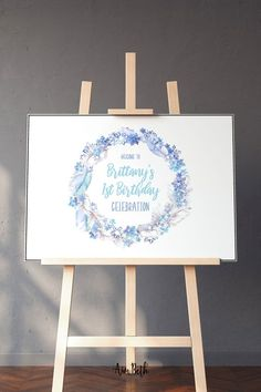 Frozen Inspired Birthday Party Decorations Welcome Sign - #frozenbirthday #frozen #frozenparty #elsa #ana #olaf #winterbirthday #welcomesign #welcome #girlbirthdayparty #birthdayparty #birthday #welcomeposter #editable #template #digitaldownload Elsa Birthday Party, Frozen Birthday Invitations, Winter Birthday Parties, Birthday Party Decorations, Party Themes, Winter Wonderland Party, Welcome Poster, Donut Party, Little Girl Birthday