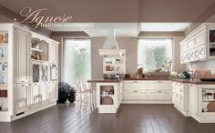 cucina classica legno bianco grigio isola - Google Search