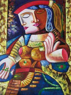 Pablo Picasso - I do not believe this is a Picasso. Kunst Picasso, Art Picasso, Picasso Paintings, Georges Braque, Art Visage, Cubist Movement, Atelier D Art, Spanish Painters, Art Moderne