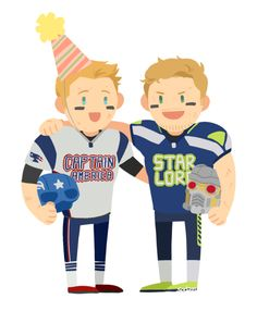 """Captain America and Star-Lord's Big Super Bowl Bet"" -- by sodamu1002"