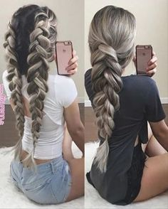 two pancaked braids | hair in 2019 | Pinterest | Hair styles, Hair and Braided hairstyles