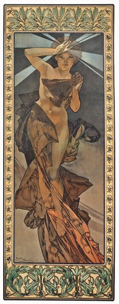 ART & ARTISTS: Alphonse Mucha - part 8 Art For Art Sake, Giclee Print, Art Nouveau, Four, Stars, Morning Star, Painting, Aesthetics, Ink
