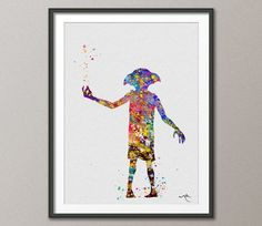 Dobby Harry Potter Print Watercolor Art Print Art by CocoMilla
