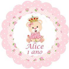 Imagem relacionada Alice, 1st Birthdays, Princess Party, Teddy Bear, Baby Shower, Pink, Milena, Julia, Paintball