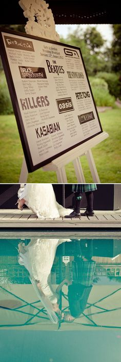 New Music Festival Wedding People Ideas Wedding Table Themes, Seating Plan Wedding, Table Names For Wedding, Wedding Table Plans, Diy Wedding, Wedding Events, Trendy Wedding, Wedding Music, Wedding Tips
