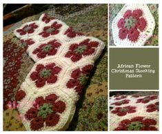 African Flower Christmas Stocking